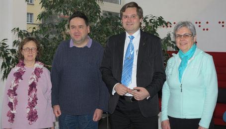 Das Leitungsteam des Vereins von links nach rechts:   Monika Büttiker, Martin Zingre, Manfred Zimmermann und Therese Scheidegger