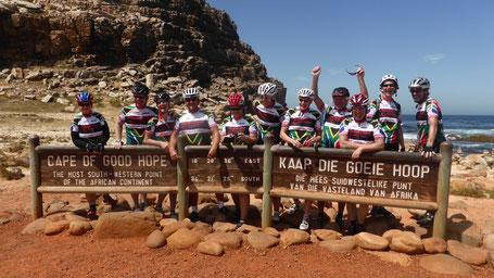 Reisebericht Kapstadt 2016 per Rennrad - Die Teilnehmer der Reise am Kap der guten Hoffnung