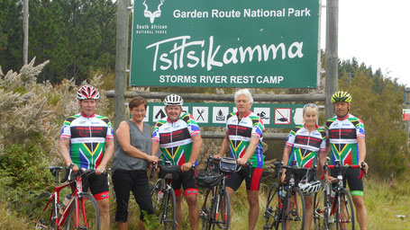 Reisebericht Garden Route 2017 - Teilnehmer der Radsportreise im Garden Route National Park in Südafrika