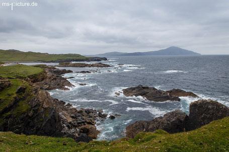 Blick vom Atlantik Dirve auf die Küste