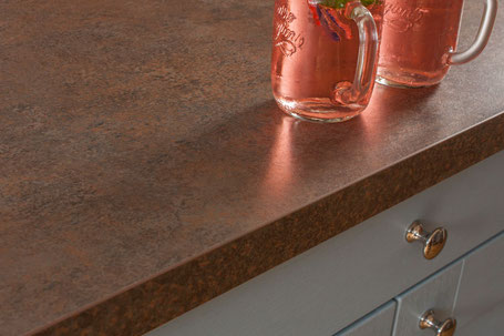 Küchenarbeitsplatte aus Kupfer