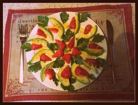rohkost avocado erdbeer vorspeisenteller rohkost rezepte. Black Bedroom Furniture Sets. Home Design Ideas