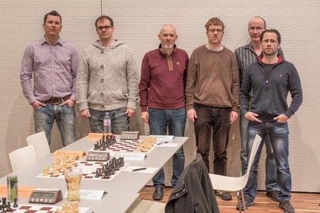 Zoltan Hajnal, Andras Flumbort, Reinhard Heimberger, Florian Sandhöfner, Peter Kranzl, Gerhard Tober (v.l.n.r)