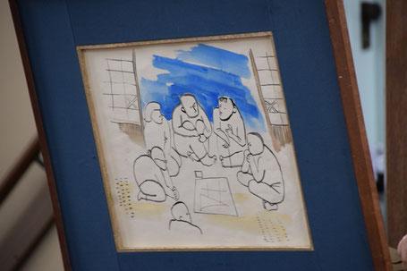 十文字平和教会献堂前のひとこまが描かれた紙芝居・『一つぶのたね』より