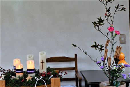 2019年12月15日 アドヴェント第3主日 クランツと献花