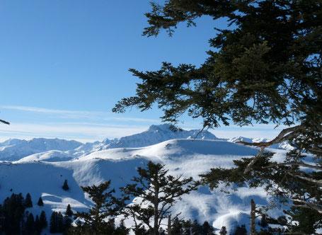 Arbizon, vallée d'Aure depuis crêtes de Nistos-Cap-Nestès