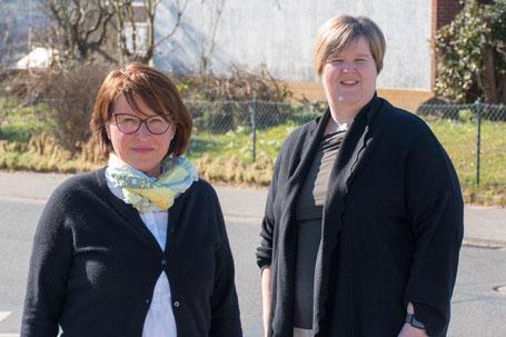 Petra Neubert (links im Bild) mit Gudrun Gebhardt