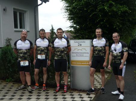 Die Teammitglieder des Team Immobilienbewertung Becker vor dem Start