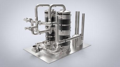 Infografía 3D maquinaria industrial