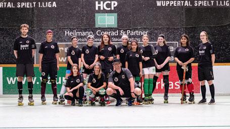 U15 Nationalkader in Wuppertal mit Eliana und Dougena / Foto: rollhockey.des Fotos