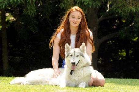 Auch im Privatleben ein Paar: Sansa und Lady.