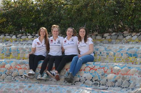 Venla, Lisa, Vanessa und Denise: das Badener Frauen-Bundesligateam in St. Veit