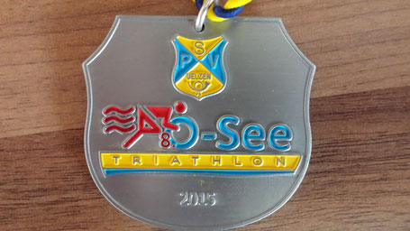 Eine der begehrten Medallien für die Finisher