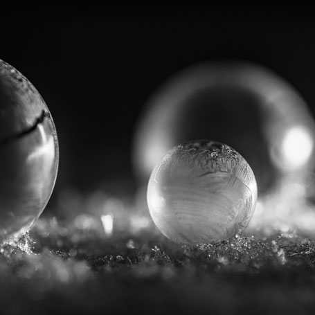 frozen lit soap bubbles
