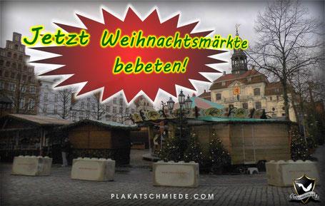 Weihnachtsmarkt, Betonklötze, Lüneburg
