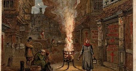 Un chariot de la mort à Londres en 1665 - Edmund Evans