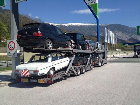Schwaiger Transporte - specialisti nel trasporto con bisarca per aziende e privati.