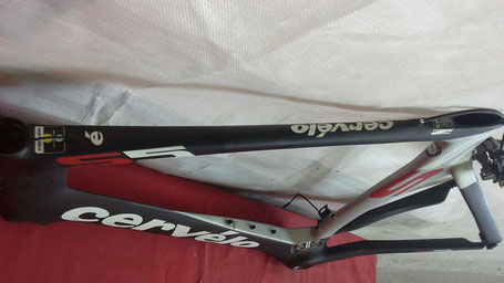 top tube damaged carbon repair handlebar impact