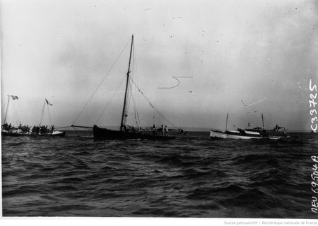 Le Havre : arrivée d'Alain Gerbault : [photographie de presse] / Agence Meurisse 1929. Bnf