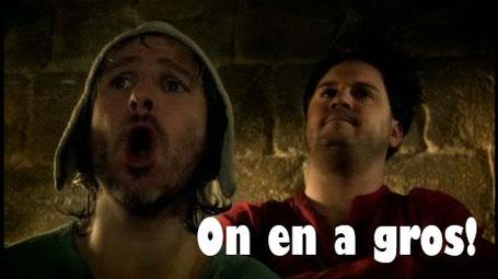 Source de l'image : Kaamelott - Franck Pitiot (Perceval le gallois) & Jean-Christophe Hembert (Karadoc) - réalisation. Alexandre Astier