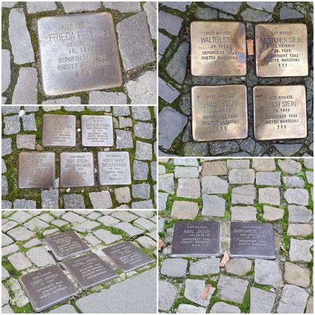 16 Stolpersteine für 16 jüdische NS-Opfer in Salzwedel
