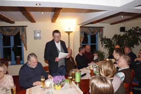 Norbert Hundt begrüßt alle Anwesenden und eröffnet die Sitzung