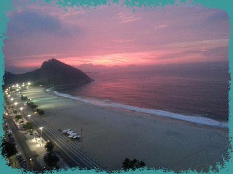 Der Strand von Leme, Copacabana, Rio de janeiro, Brasilien