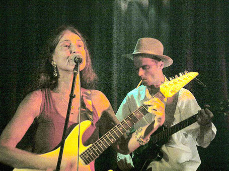 "Pyari and Thilo at the ""Fools Garden"", Schanze, Hamburg, 2006"