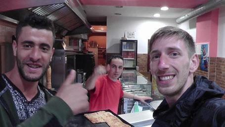 Imad, Abderrhman und ich