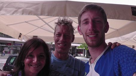 Martine, Tim und ich