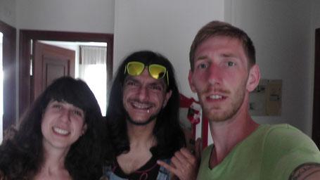 Cristina, Michele und ich