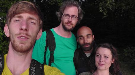 Ich, Emmanuel, Maël und Hervelyne