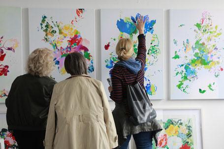 Atelierwochenende 2019, Atelier Ulrike Bultmann, Foto: Antonia Richter, gatonia.de
