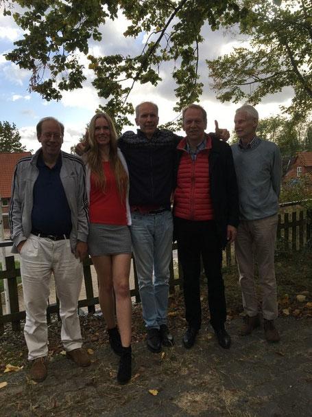 Ein Teil der Volksdorfer Delegation in Ratzeburg
