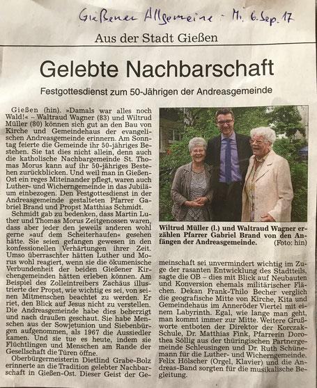 Gießener Allgemeine, 6.9.2017