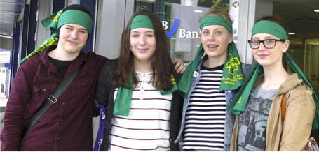 Die Gruppe der Andreasgemeinde auf dem Jugendkirchentag // Foto: EKHN