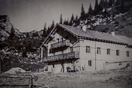 Historische Füssener Hütte um ca. 1938
