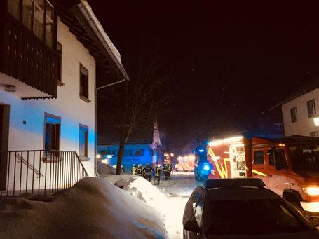 Brand in Wiggensbach, Wohnungsbrand, Kleidung feuer gefangen