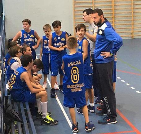 Coach Manassero e Fea durante un time-out a Racconigi