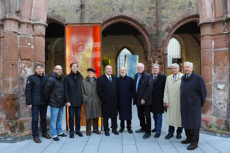 Von links: Willi Schuth, Ralph Schuckmann, Hartmut R. Raible, Heinz Laubach, Peter Krawietz, Michael Baunacke, Hartmut Fischer, Ferdinand Scherf, Norbert Schüler und Stefan Schmitz
