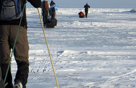 Anke Wolfert: Das Eistrekking beginnt am Ostufer