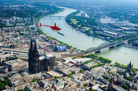 Hubschrauberrundflug über Köln