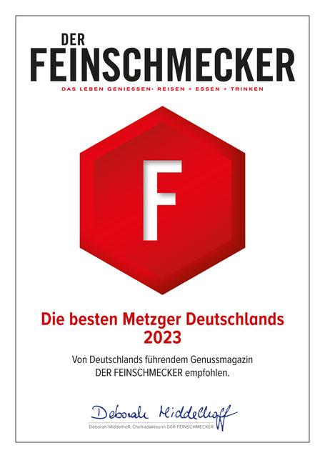 Fleischerei Bechtel gehört zu den 500 besten Metzger Deutschlands!