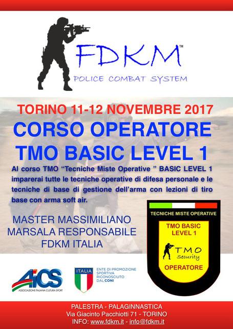 CORSO TMO LEVEL 1 TORINO NOVEMBRE 2017