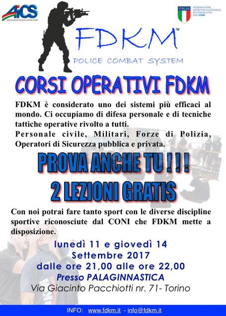 LEZIONI GRATIS OPERATORE FDKM TORINO