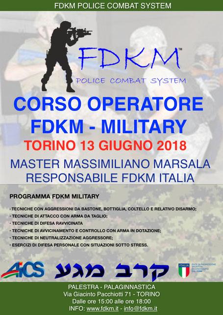 CORSO OPERATORE FDKM MILITARY TORINO GIUGNO 2018