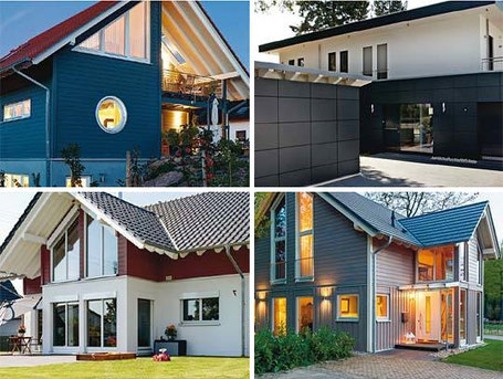 Exterior walls of prefabricated homes