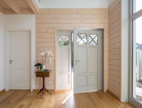 Energy efficient eco house - entrance hall