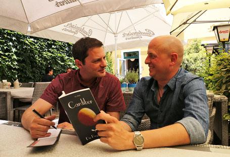"""Autor Hans-Jörg Russ im Gespräch über sein erstes Buch """"Cardibor"""" mit Martin Pfleger (HIZ)."""