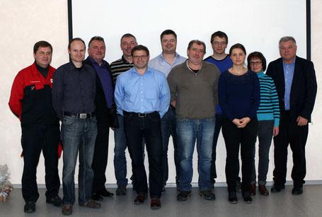 im Bild hinten (v.l.): Semmelmann J., Spanfeldner F., Kraus N., Bogner R., Urban M., Fischer F., Schnupp K. vorne: Sagstetter M., Wagner J., Edbauer C., Schnupp C.